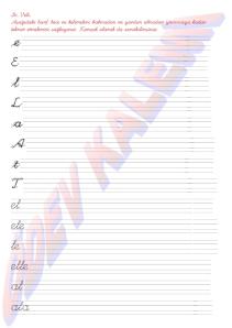 1. Grup Harfler - Heceler - Kelimeler 1. Sinif Okuma Yazma Etkinlikleri - 01