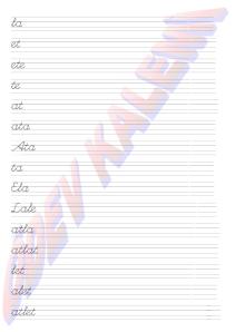 1. Grup Harfler - Heceler - Kelimeler 1. Sinif Okuma Yazma Etkinlikleri - 02