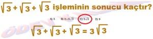 8. Sinif Matematik Dersi Karekoklu Sayilarda Toplama ve Cikarma Cozumlu Problemler - 04