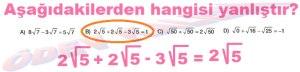 8. Sinif Matematik Dersi Karekoklu Sayilarda Toplama ve Cikarma Cozumlu Problemler - 05