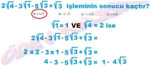 8. Sinif Matematik Dersi Karekoklu Sayilarda Toplama ve Cikarma Cozumlu Problemler - 08