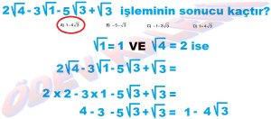 8. Sinif Matematik Dersi Karekoklu Sayilarda Toplama ve Cikarma Cozumlu Problemler - 08