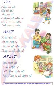 Tel - Alet - Atlet Metinleri 1. Grup Sesler Hrfler 1. Sinif Okuma Yazma Etkinlikleri