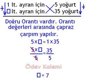 5. Sinif Matematik Dersi Cozumlu Oran Oranti Problemleri - 04