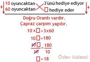 5. Sinif Matematik Dersi Cozumlu Oran Oranti Problemleri - 05