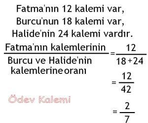 5. Sinif Matematik Dersi Cozumlu Oran Oranti Problemleri - 10