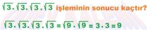 8. Sinif Matematik Dersi Cozumlu Karekoklu Problemler - 01
