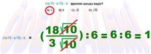 8. Sinif Matematik Dersi Cozumlu Karekoklu Problemler - 02