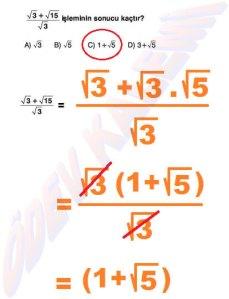 8. Sinif Matematik Dersi Cozumlu Karekoklu Problemler - 05