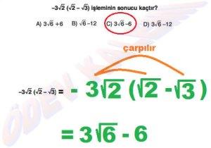 8. Sinif Matematik Dersi Cozumlu Karekoklu Problemler - 07