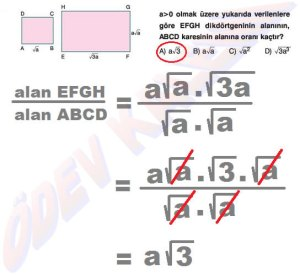 8. Sinif Matematik Dersi Cozumlu Karekoklu Problemler - 08