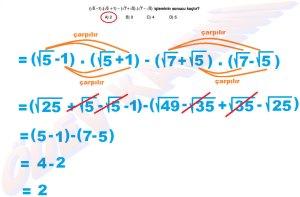8. Sinif Matematik Dersi Cozumlu Karekoklu Problemler - 09