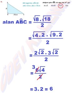 8. Sinif Matematik Dersi Cozumlu Karekoklu Problemler - 10