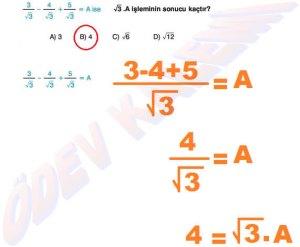8. Sinif Matematik Dersi Cozumlu Karekoklu Problemler - 11