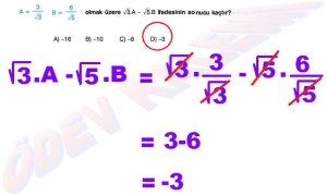 8. Sinif Matematik Dersi Cozumlu Karekoklu Problemler - 12