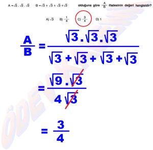 8. Sinif Matematik Dersi Cozumlu Karekoklu Problemler - 14