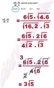 8. Sinif Matematik Dersi Cozumlu Karekoklu Problemler - 15