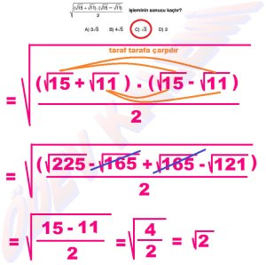 8. Sinif Matematik Dersi Cozumlu Karekoklu Problemler - 16
