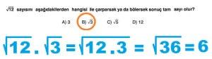 8. Sinif Matematik Dersi Cozumlu Karekoklu Problemler - 17