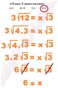 8. Sinif Matematik Dersi Cozumlu Karekoklu Problemler - 18