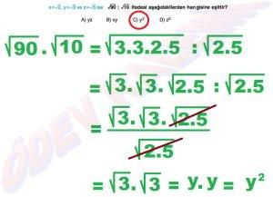 8. Sinif Matematik Dersi Cozumlu Karekoklu Problemler - 19