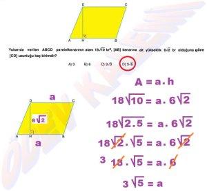8. Sinif Matematik Dersi Cozumlu Karekoklu Problemler - 20