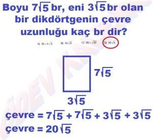 8. Sinif Matematik Dersi Karekoklu Sayilarda Cozumlu Toplama ve Cikarma Problemleri - 01