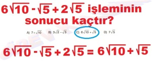 8. Sinif Matematik Dersi Karekoklu Sayilarda Cozumlu Toplama ve Cikarma Problemleri - 02