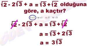 8. Sinif Matematik Dersi Karekoklu Sayilarda Cozumlu Toplama ve Cikarma Problemleri - 05