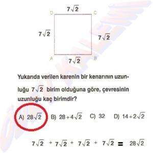 8. Sinif Matematik Dersi Karekoklu Sayilarda Cozumlu Toplama ve Cikarma Problemleri - 08