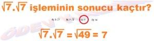 8. Sinif Matematik Dersi Karekoklu Sayilarla Carpma ve Bolme islemleri Cozumlu Problemler - 01