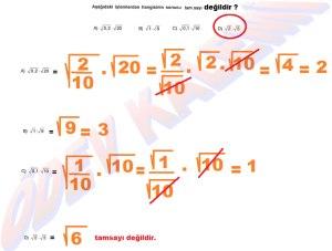 8. Sinif Matematik Dersi Karekoklu Sayilarla Carpma ve Bolme islemleri Cozumlu Problemler - 05