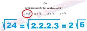 8. Sinif Matematik Dersi Karekoklu Sayilarla Carpma ve Bolme islemleri Cozumlu Problemler - 06