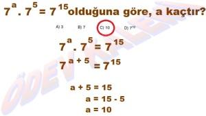 8. Sinif Matematik Dersi Uslu Sayilarla islemler Cozumlu Problemler - 04