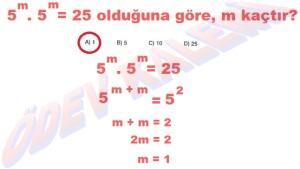 8. Sinif Matematik Dersi Uslu Sayilarla islemler Cozumlu Problemler - 05