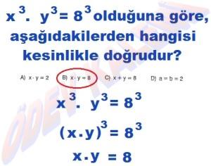 8. Sinif Matematik Dersi Uslu Sayilarla islemler Cozumlu Problemler - 10
