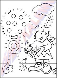 Sayilari Birlestir Boya 1. Sinif Sanatsal Etkinlikler Dersi - 01