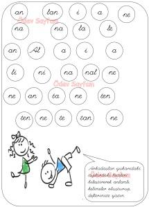 2. Grup Harfler Heceleri Birlestirerek Anlamli Kelimeler Olusturma Etkinligi 1. Sinif Turkce Dersi Okuma Yazma Etkinlikleri