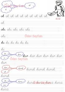 Ik - IkI - kI Heceleri 3. Grup Sesler 1. Sinif Turkce Dersi Okuma Yazma Etkinlikleri
