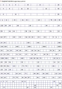 Problemler - Test 2. Sinif Matematik Dersi - 10