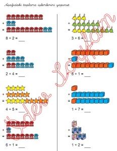 eldesiz toplama islemleri 1. Sinif Matematik Dersi - 01