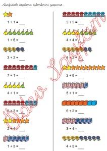 eldesiz toplama islemleri 1. Sinif Matematik Dersi