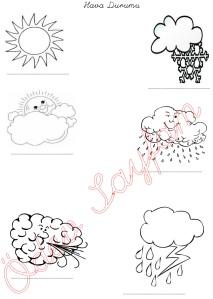 1. Sinif Hayat Bilgisi Dersi Hava Durumu Etkinligi