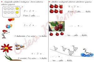 cikarma islemini ogreniyorum sekillerle cikarma islemleri 1. Sinif Matematik Dersi - 01