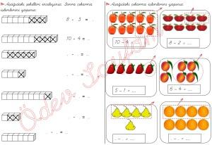 cikarma islemini ogreniyorum sekillerle cikarma islemleri 1. Sinif Matematik Dersi - 03
