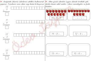 cikarma islemini ogreniyorum sekillerle cikarma islemleri 1. Sinif Matematik Dersi - 05 01