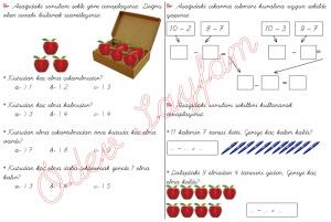 cikarma islemini ogreniyorum sekillerle cikarma islemleri 1. Sinif Matematik Dersi - 05 - 02