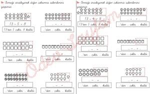 cikarma islemini ogreniyorum sekillerle cikarma islemleri 1. Sinif Matematik Dersi - 06 - 01