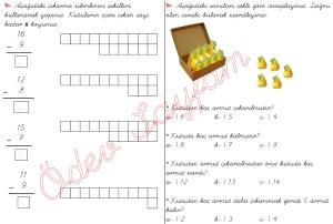 cikarma islemini ogreniyorum sekillerle cikarma islemleri 1. Sinif Matematik Dersi - 06 - 02