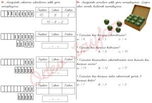 cikarma islemini ogreniyorum sekillerle cikarma islemleri 1. Sinif Matematik Dersi - 07 - 01